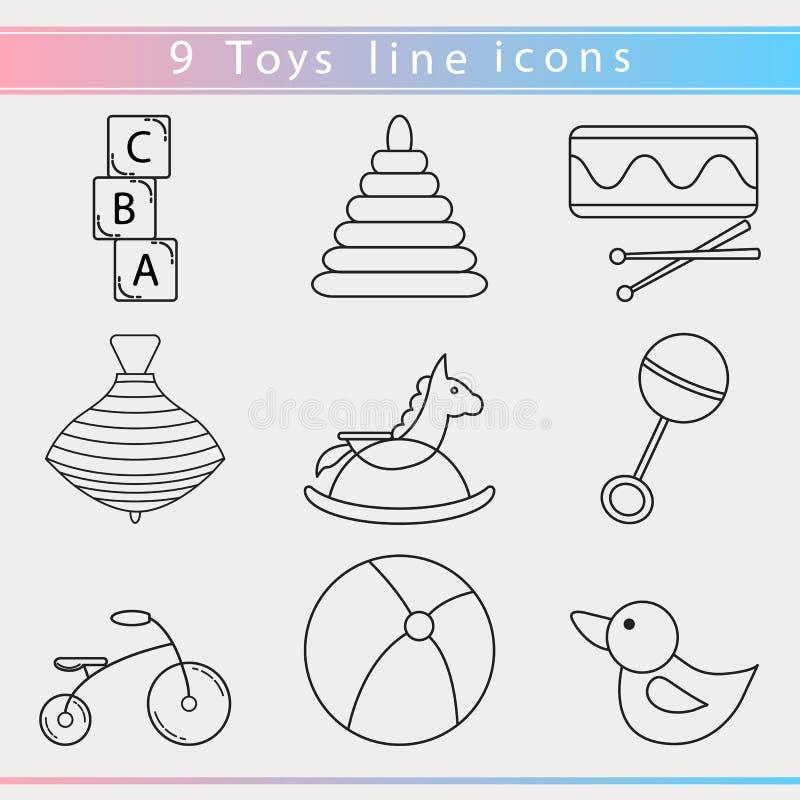 Baby toys icon stock illustration