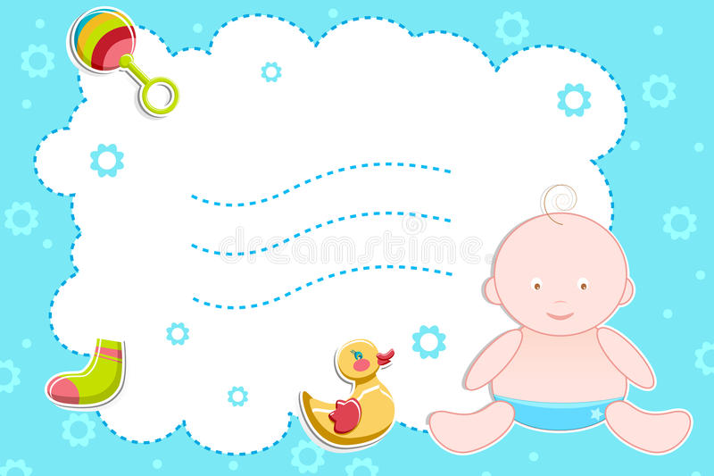 Download Baby With Toys Sitting On Abstract Background Stock Vector - Image: 18710932