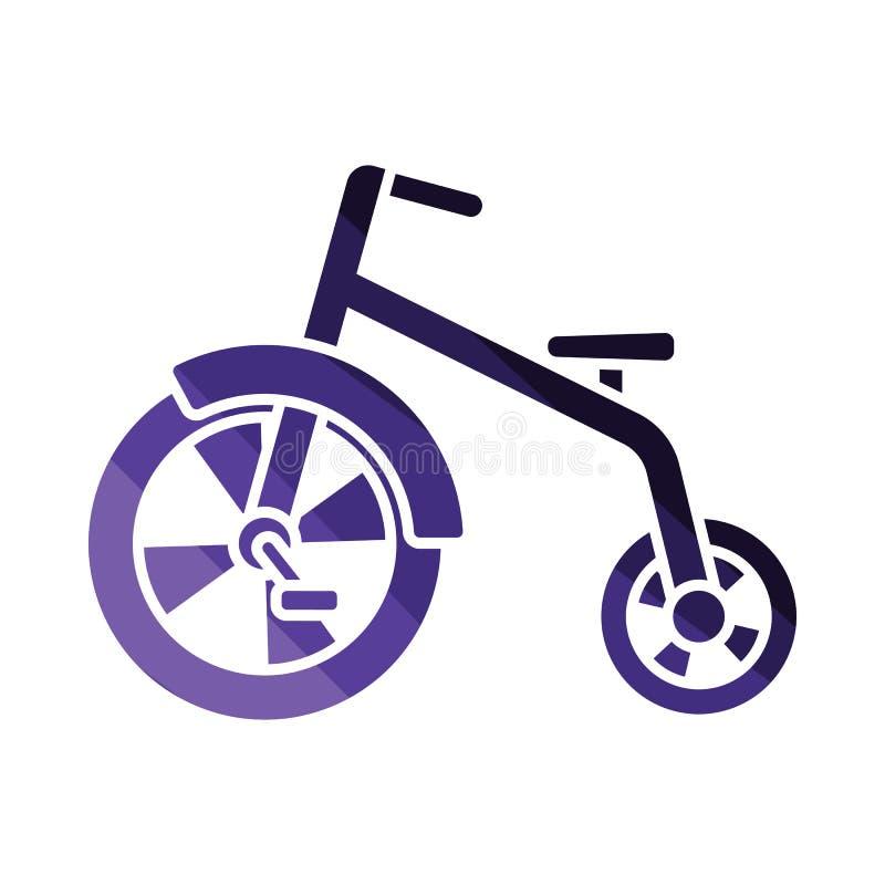 Baby trike icon. Flat color design. Vector illustration stock illustration