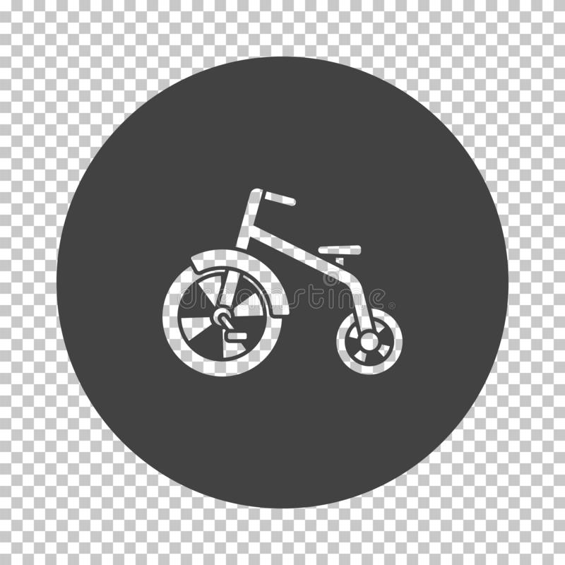 Baby trike icon. Subtract stencil design on tranparency grid. Vector illustration vector illustration