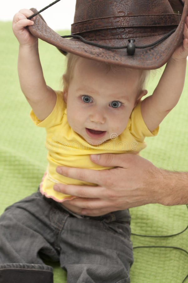 Download Baby trying a hat stock photo. Image of data, keep, toddler - 13157678