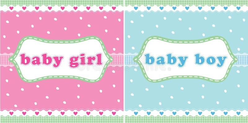 Baby- und Babykarte lizenzfreie abbildung