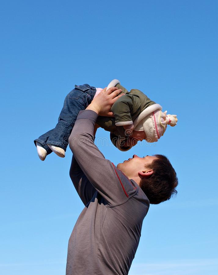 Download Baby under blue sky stock photo. Image of beautiful, baby - 18232672