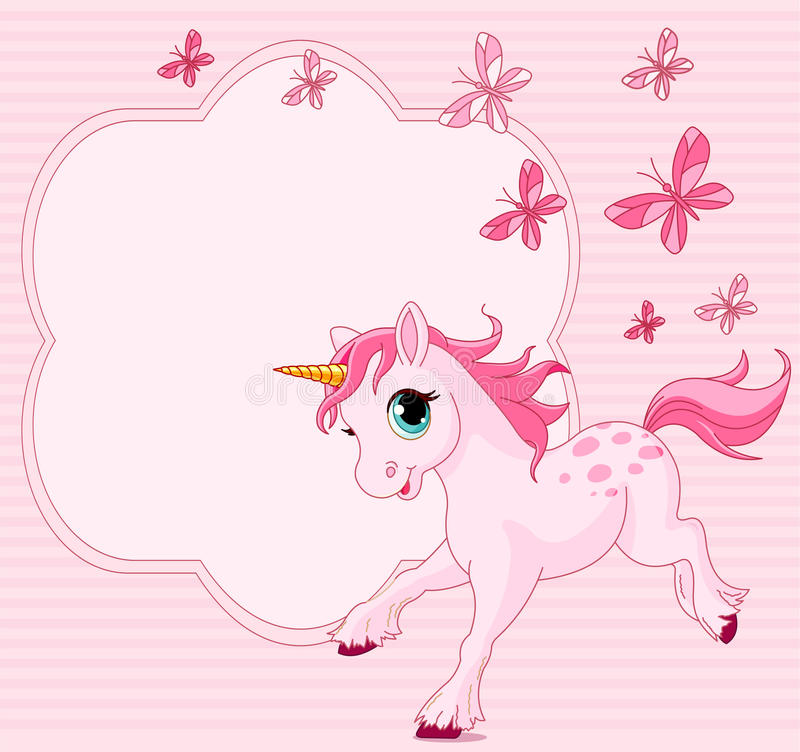 Download Baby unicorn place card stock vector. Image of baby, little - 19447108