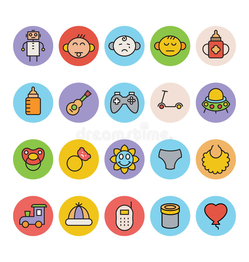 Baby Vector Icons 5 vector illustration
