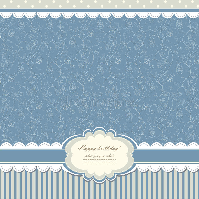 Baby vintage background vector vector illustration