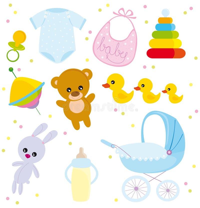baby voorwerpen stock illustratie