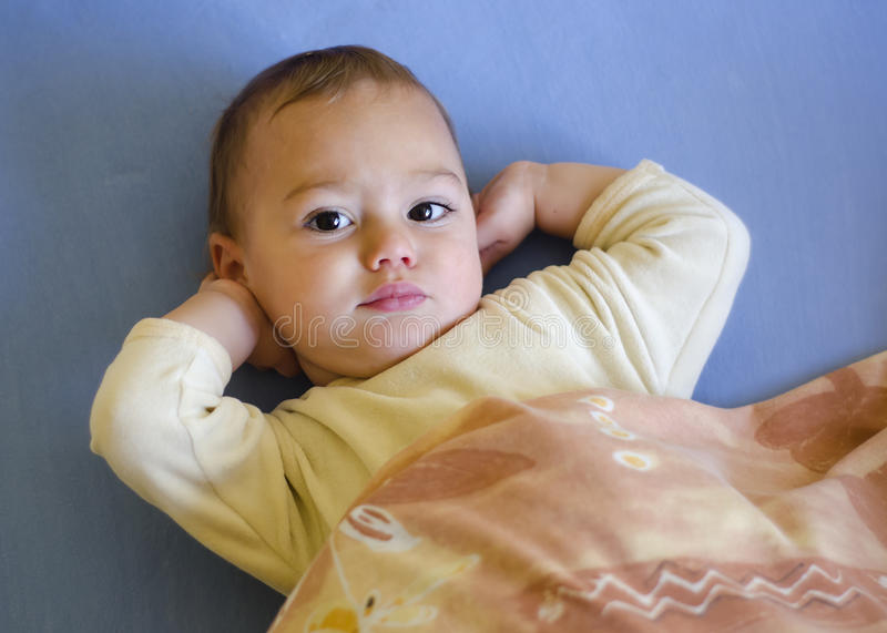Download Baby waking up stock image. Image of tired, young, face - 27428823