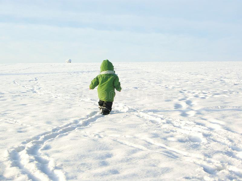 Download Baby walking in snow stock image. Image of caucasian - 23092305