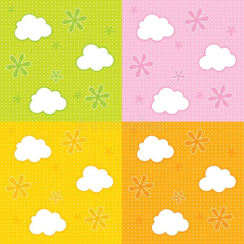Download Baby Wallpaper Background Stock Vector Illustration Of Children