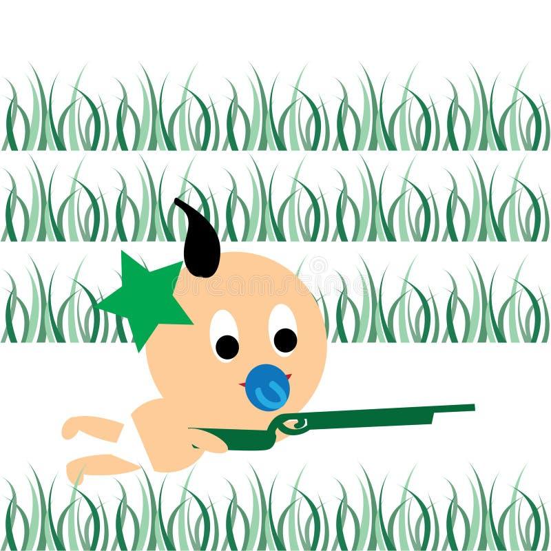 Download Baby war stock vector. Illustration of diaper, black - 17434889