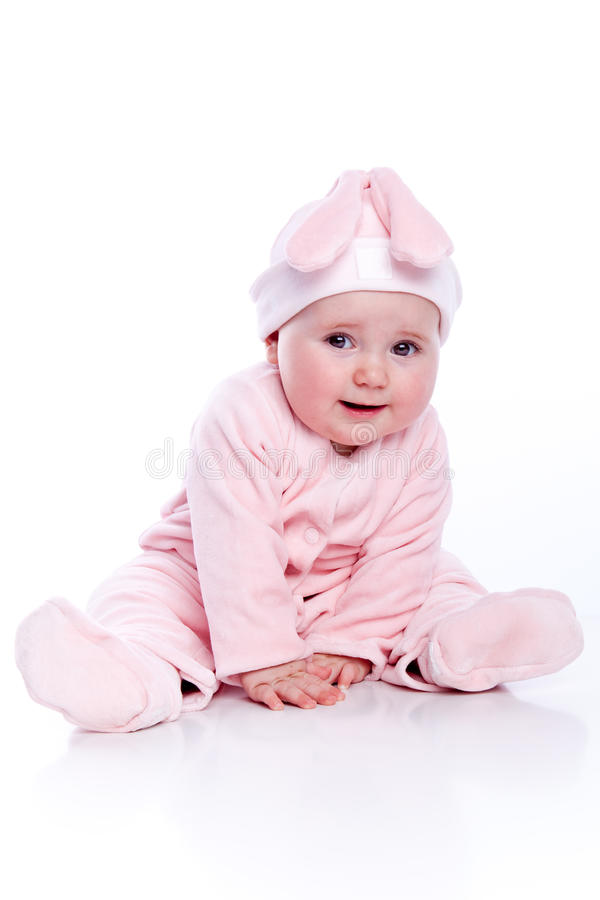 Free Baby Wearing Bunny Stock Photo - 13962380