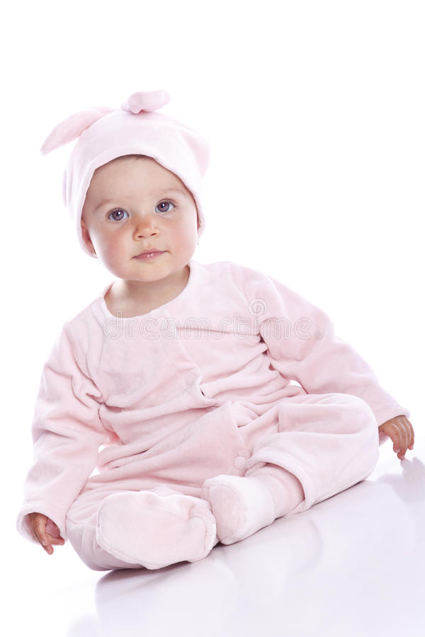 Free Baby Wearing Bunny Suit Stock Images - 15793124