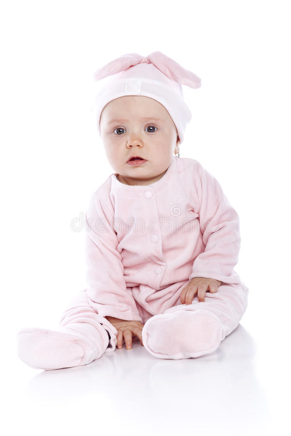 Free Baby Wearing Bunny Suit Isolated Stock Images - 14553134