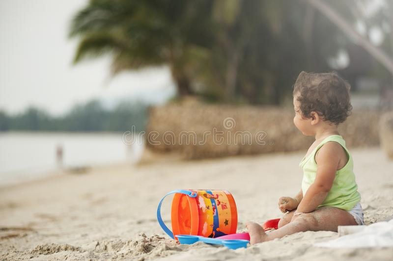 Baby Wearing Green Tank Top royalty free stock photos