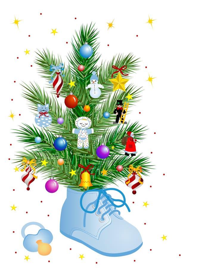 Baby - Weihnachten lizenzfreie abbildung
