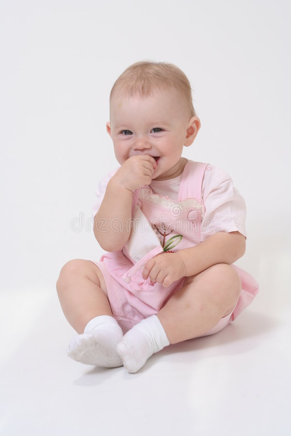 Baby on the white background stock photo
