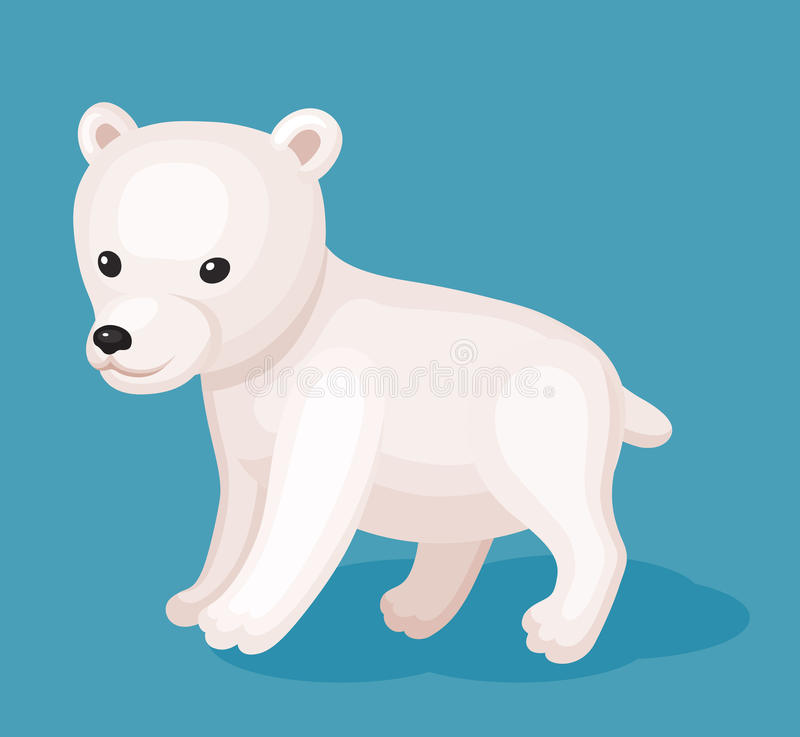Baby wight bear. Cute icon of baby wight bear. Perfect card or any kind of design vector illustration