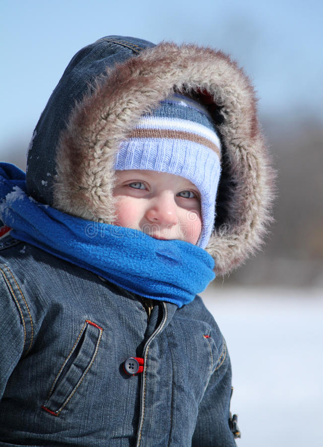 Download Baby in winter stock photo. Image of blow, momant, isolated - 23614964