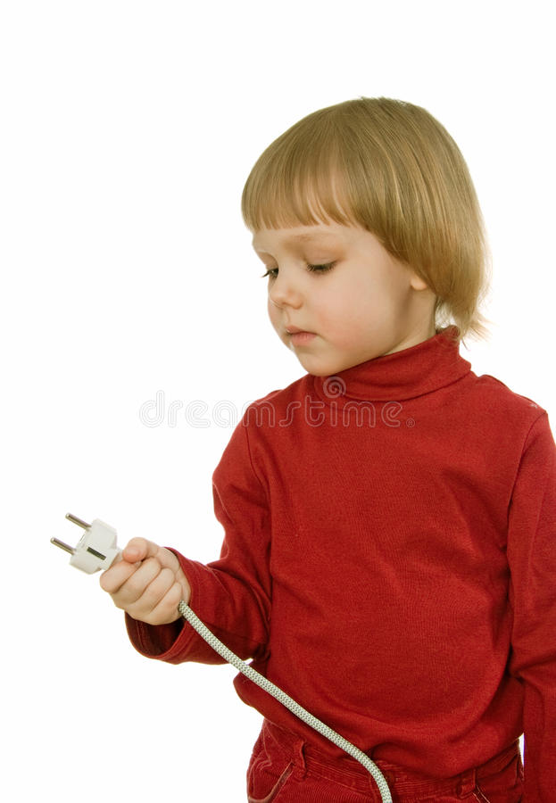 Download Baby with wire stock photo. Image of electric, suspension - 14385956