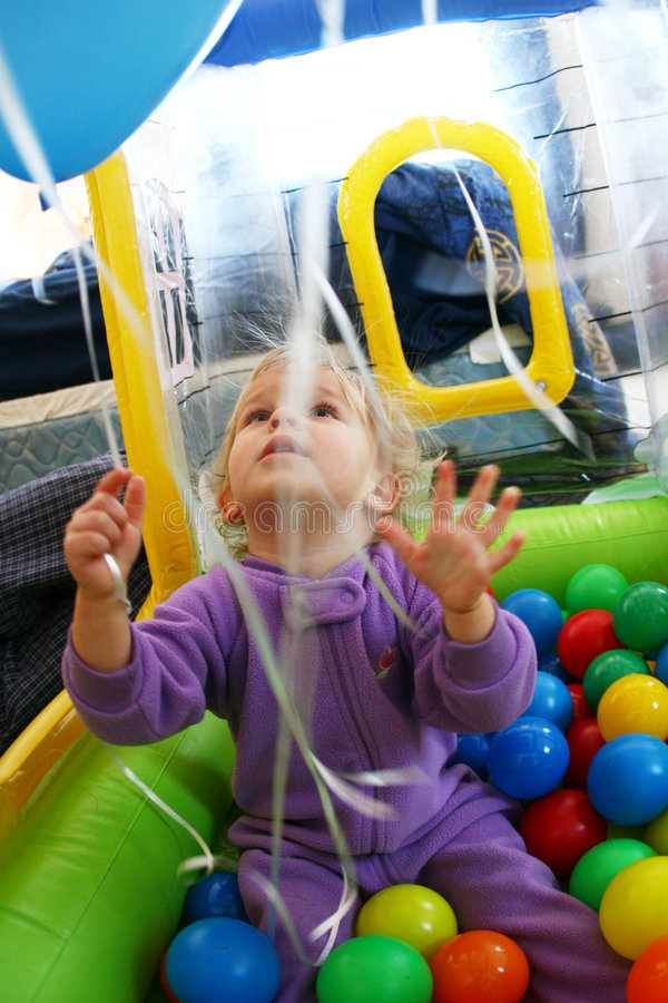Free Baby With Balloons Royalty Free Stock Photos - 2266798