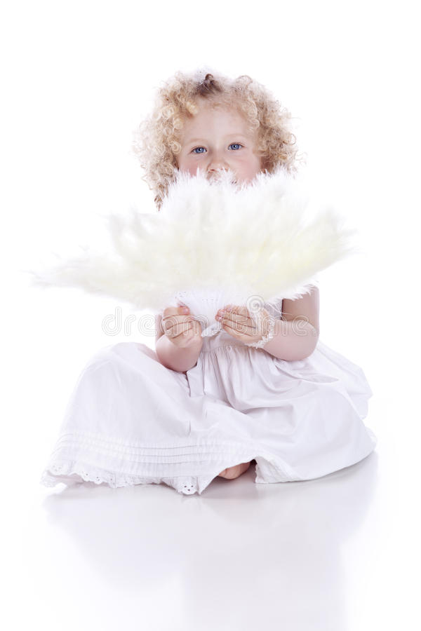 Free Baby With Feathers Fan Stock Photos - 15272523