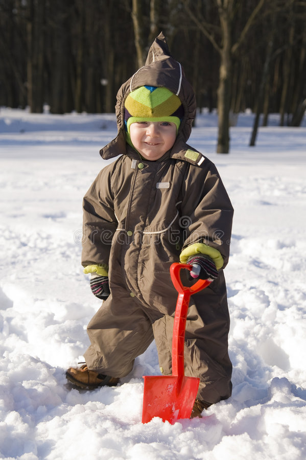 Free Baby With Red Shovel Stock Photo - 6373550