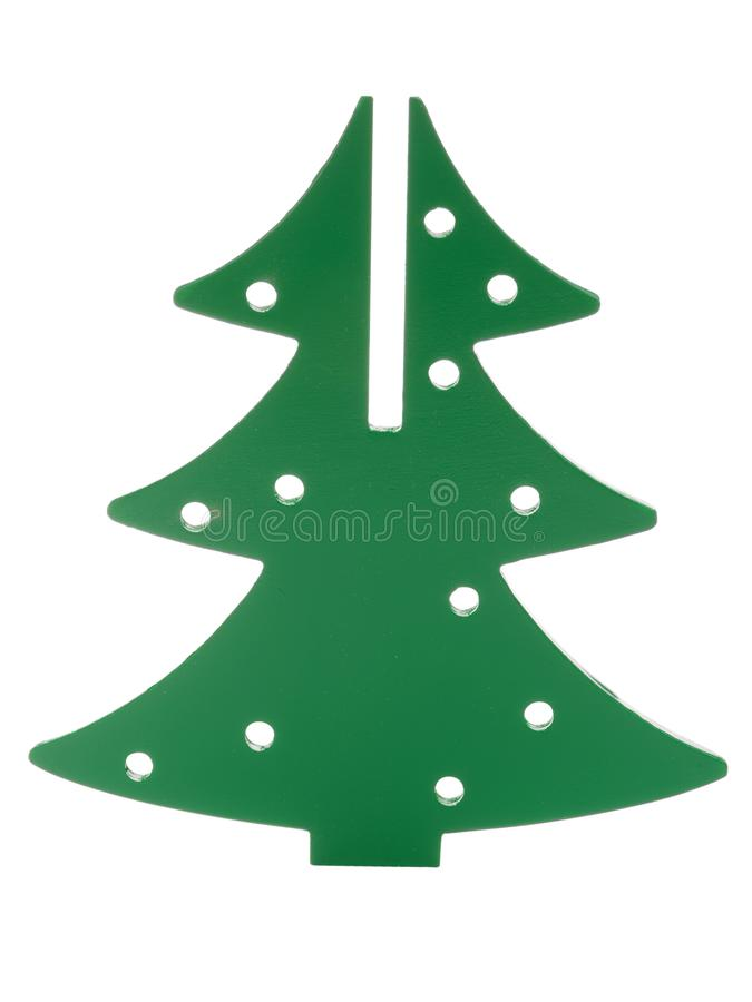 Baby wooden, Christmas tree isolated on white background. stock image