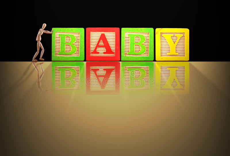 Baby Word Manikin Stock Images