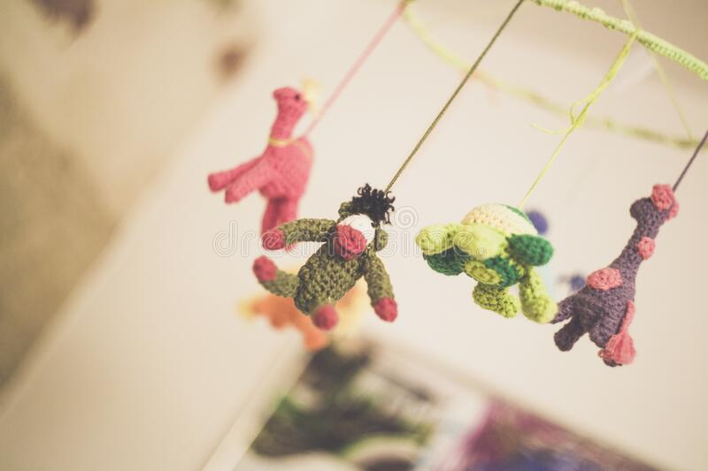 Baby's Knitted Mobile Free Public Domain Cc0 Image