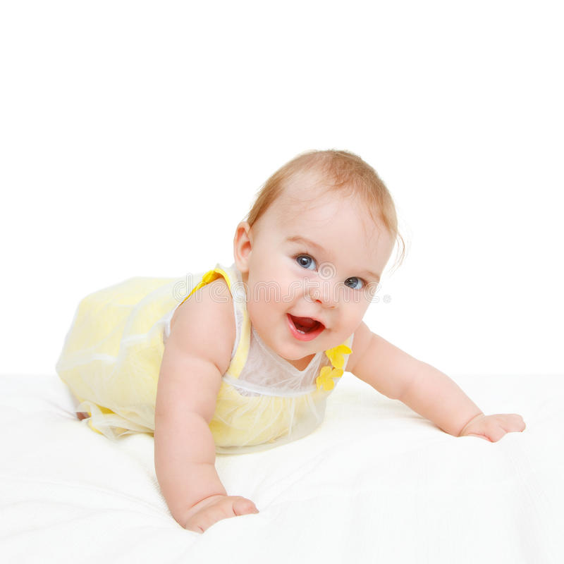 Download Baby In Yellow Dress Stock Image - Image: 22796341