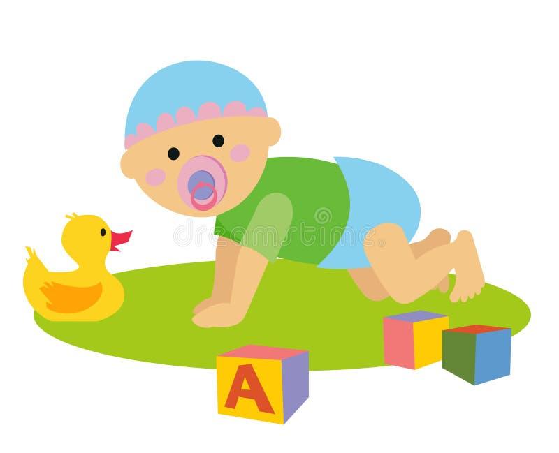 Baby1 stock illustratie