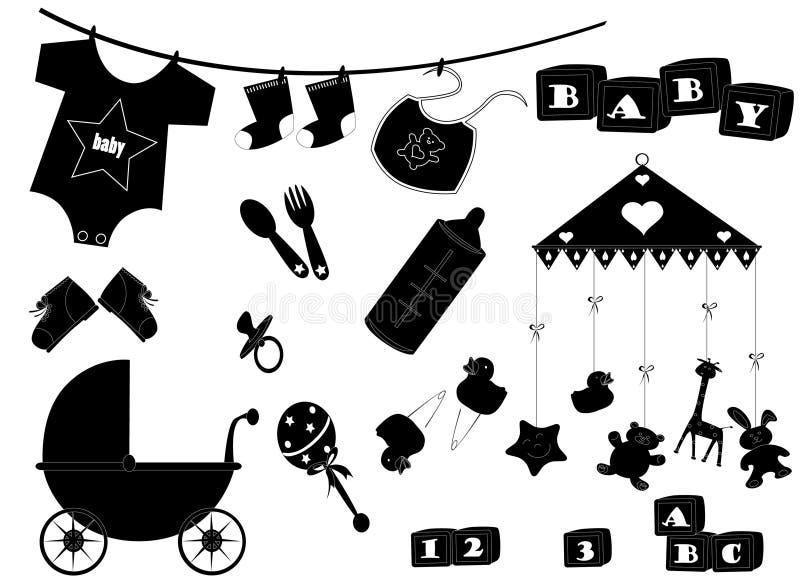 baby5 eps vektor illustrationer