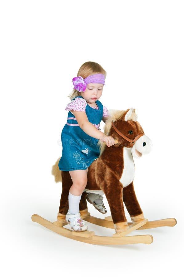 babyand konia odosobnione zabawki biały zdjęcie royalty free