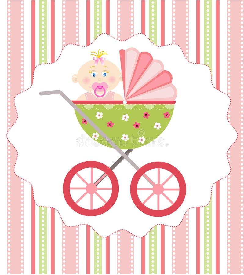 Babyankunft stock abbildung