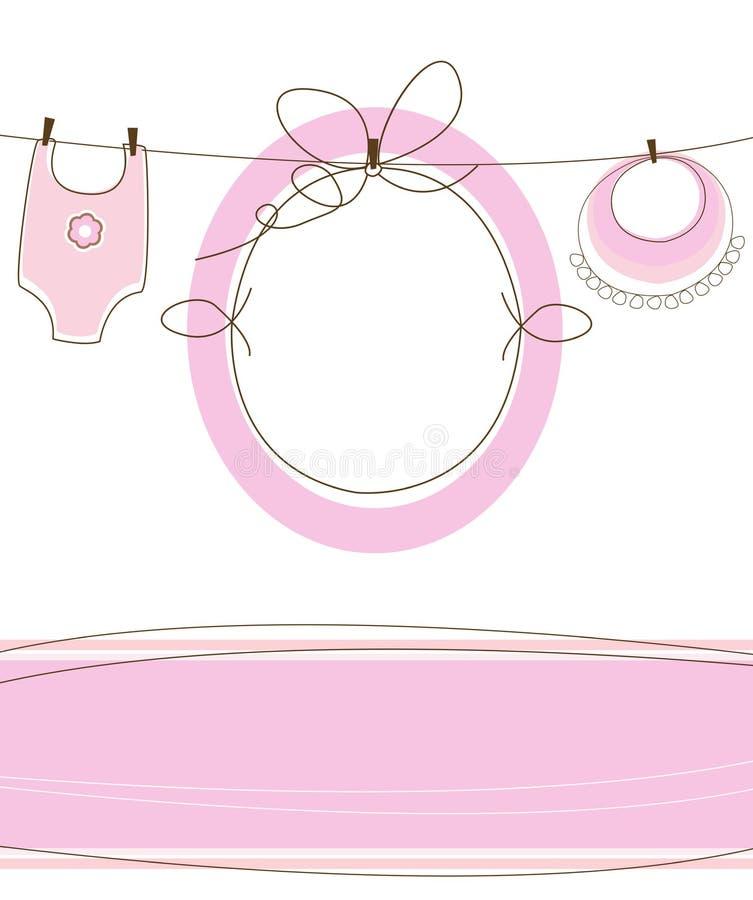 Babyankunftsauslegung stock abbildung