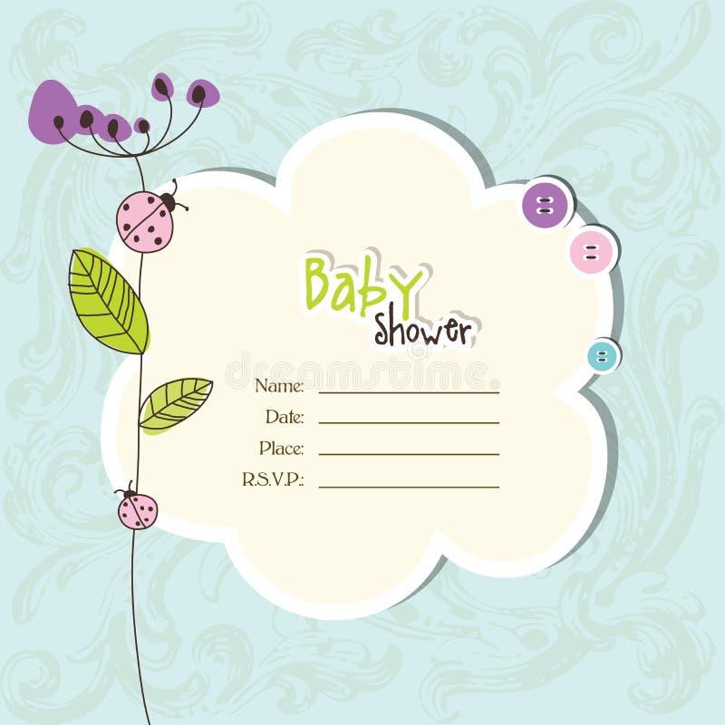 Babyankunftskarte - Babypartykarte stock abbildung