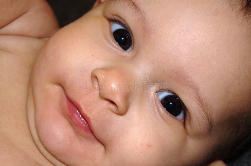 babyansikte royaltyfri foto
