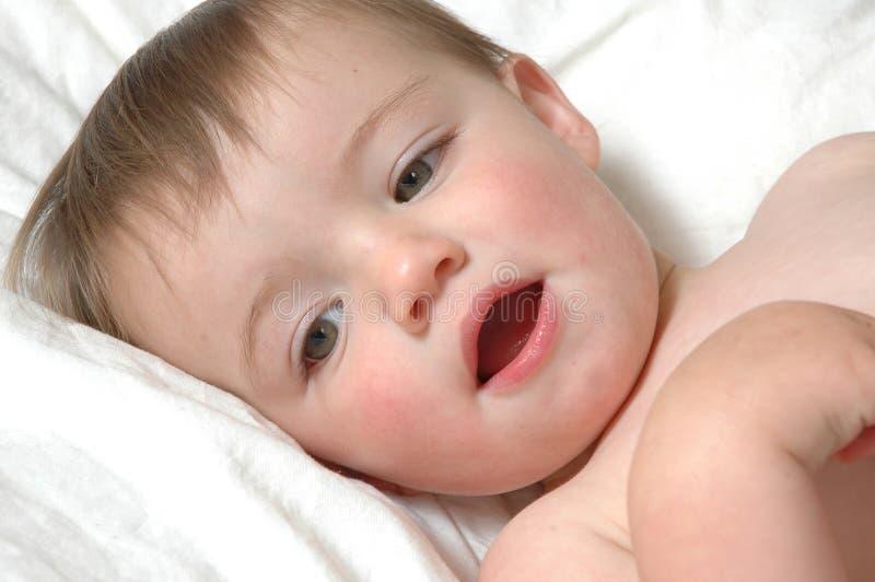 babyansikten royaltyfri bild