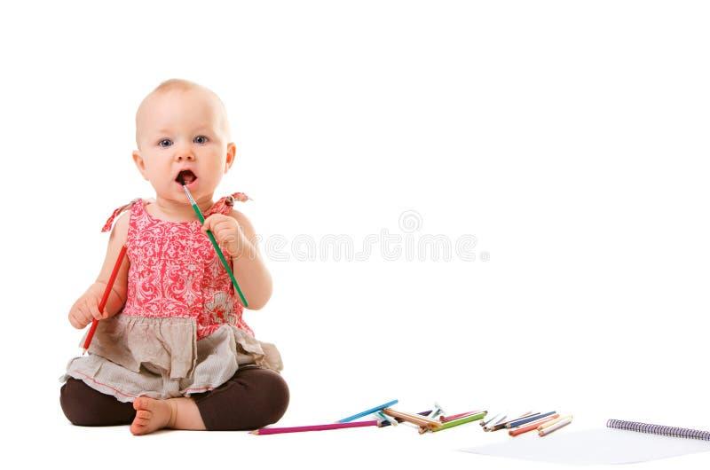 Babyanstrich stockbilder