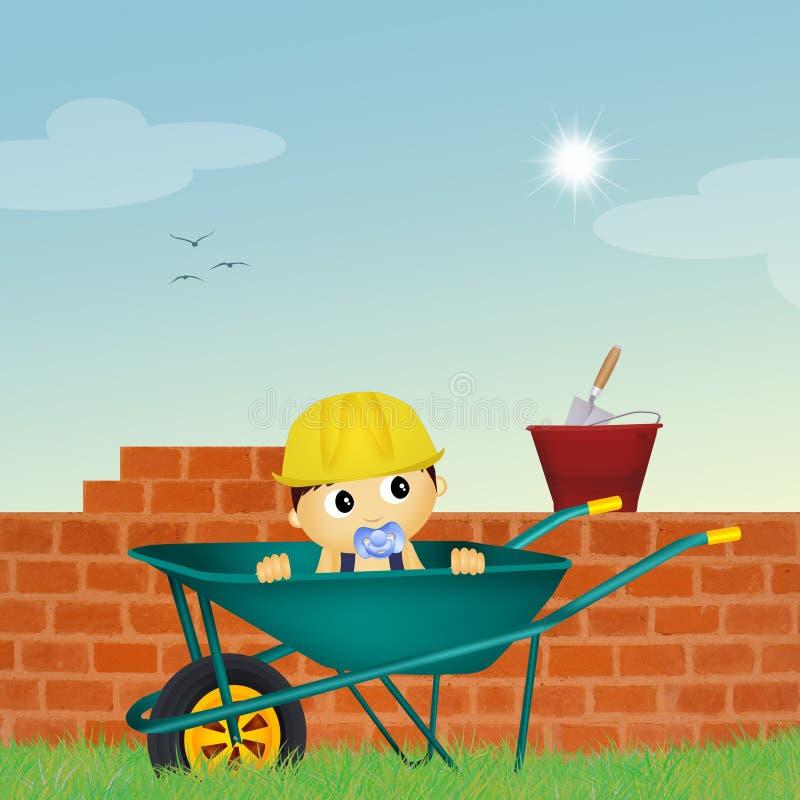 Babyarbeitskraft lizenzfreie abbildung