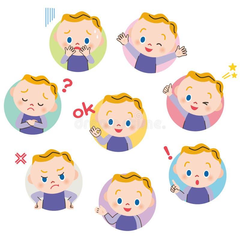 Babyausdruckhaltung stock abbildung