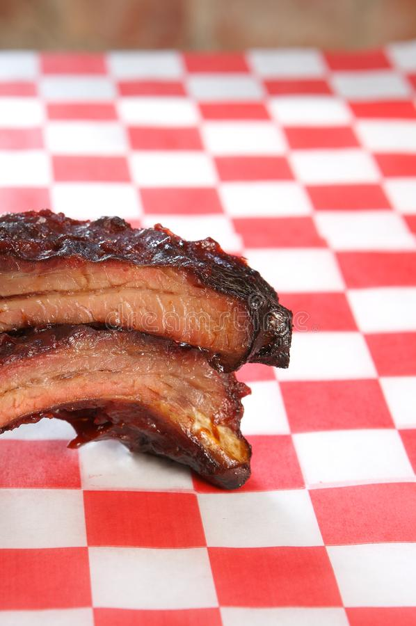 Babyback pork ribs stock photos