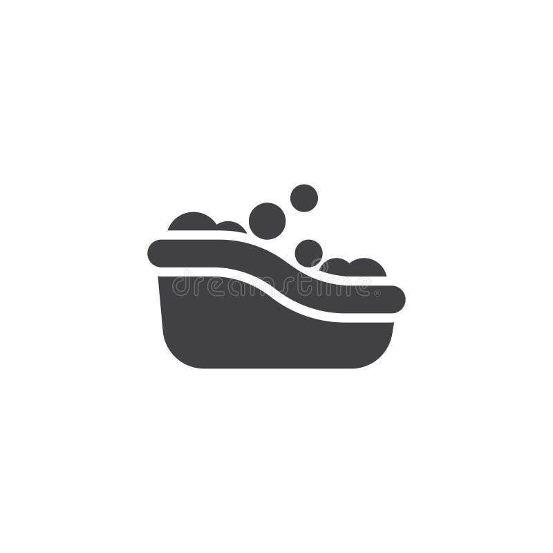 Babybadewannen-Vektorikone vektor abbildung