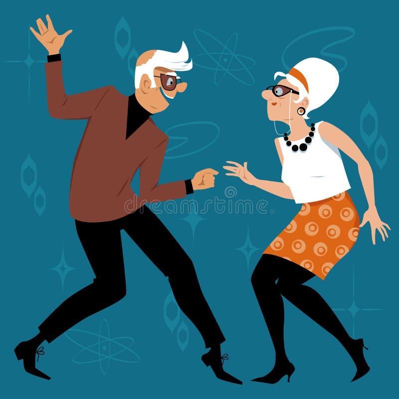 Babyboomers het dansen royalty-vrije illustratie