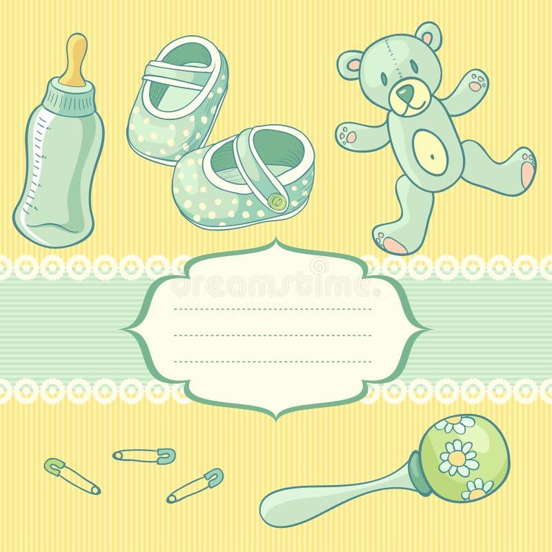 Download Babyboy vector illustratie. Illustratie bestaande uit uitnodiging - 29506023