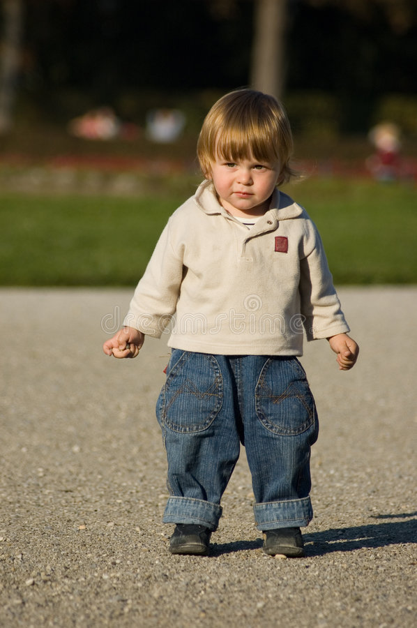 Download Babyboy stock image. Image of small, jeans, child, stand - 567393