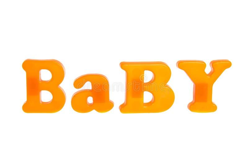 Download Babybrieven Op Witte Achtergrond Stock Afbeelding - Afbeelding bestaande uit brief, ontwerp: 39100221