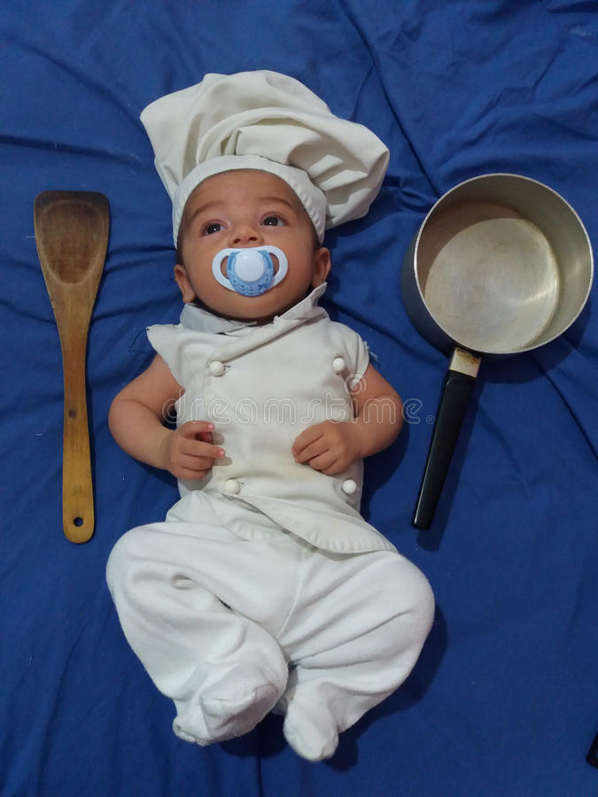 Babychef lizenzfreie stockfotos