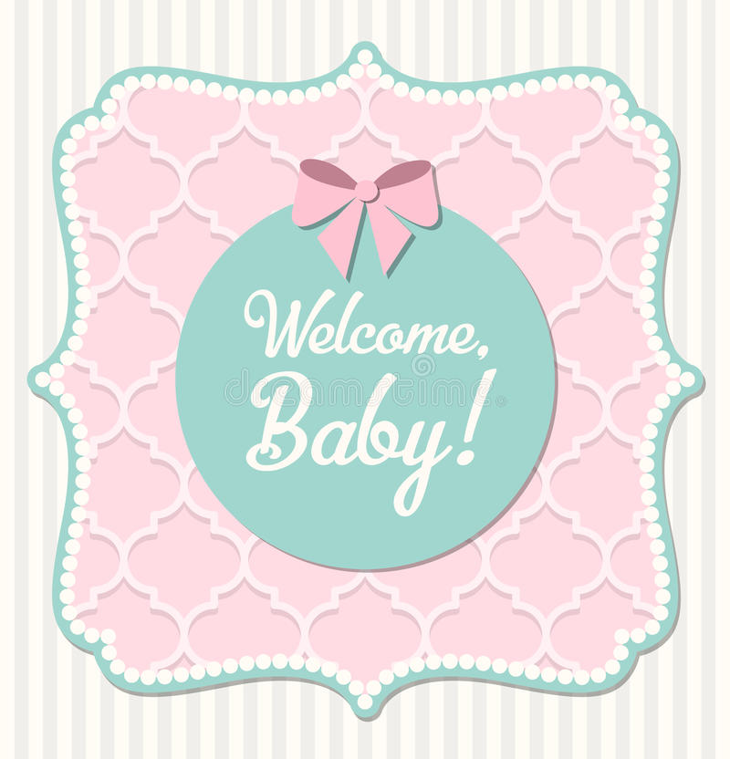 Babydouche, illustratie stock illustratie
